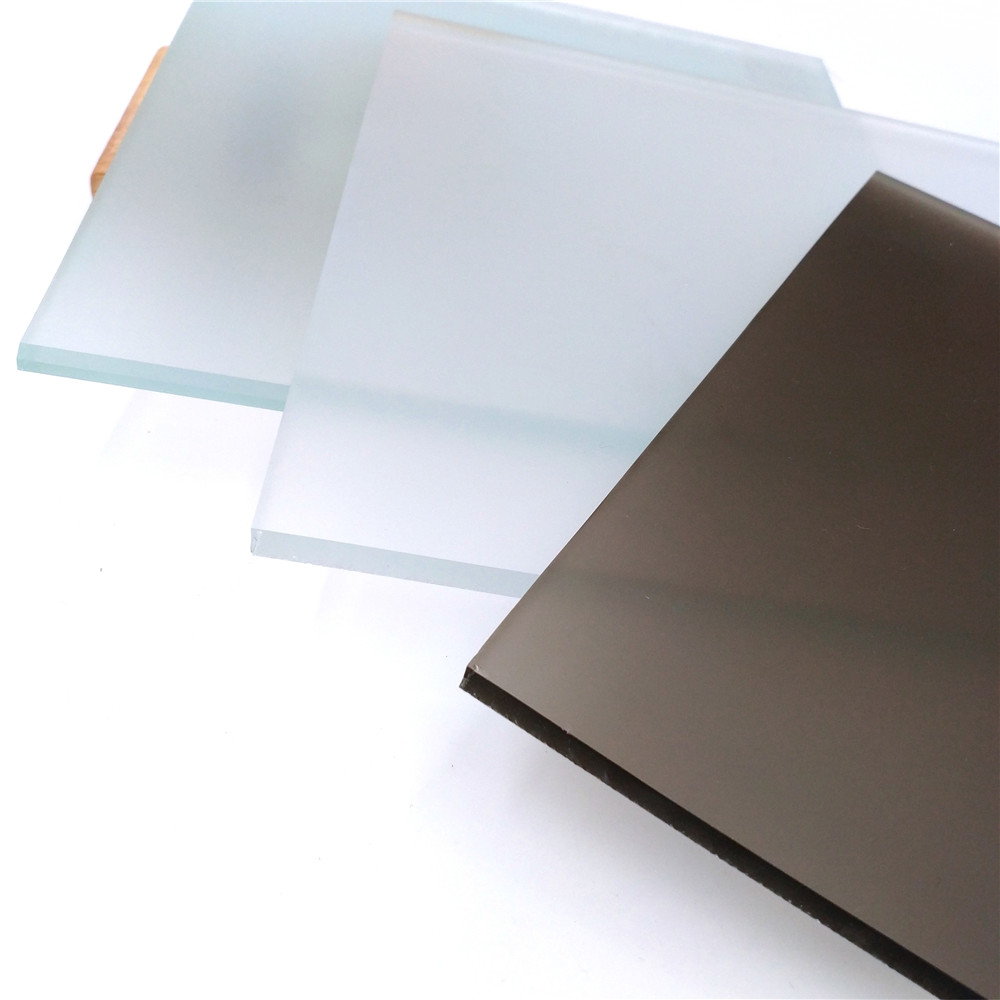 What is the difference between acid-etched glass and sandblasted glass?