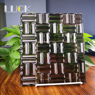 Brown color tempered fused glass architectural decoration, color can be customized