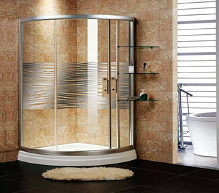 Chinese made bathroom tempered glass door