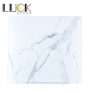 White marble bedroom background wall, TV cabinet tempered glass